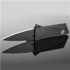 Przenośny mini składany nóż, karta kredytowa czarna