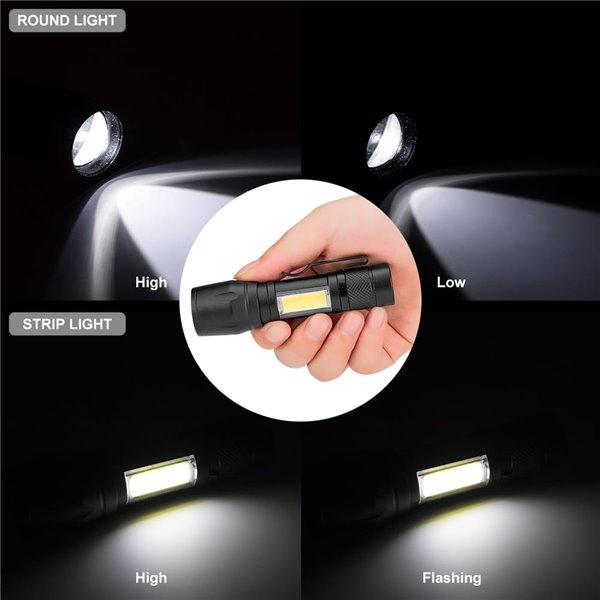 Latarka LED 4 Tryby XPE + COB