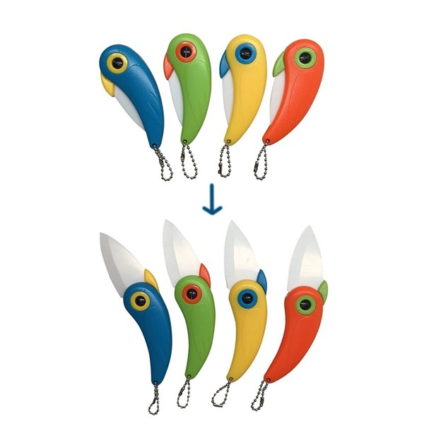 Nożyk breloczek Papuga Ceramiczny
