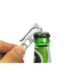 Wielofunkcyjny otwieracz do butelek brelok EDC narzędzie klucz sześciokątny