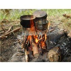 Grill ze stali nierdzewnej składany 170x155x95mm