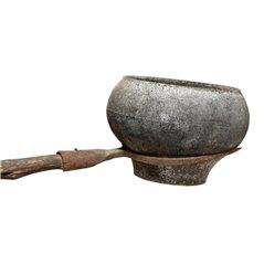 Garnek żeliwny z pokrywką 0,75 l