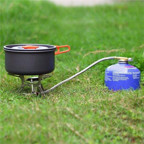 Kuchenka turystyczna z piezoelektrycznym zapłonem.