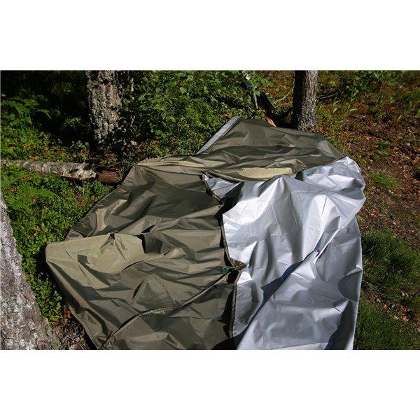 Hamak ultralight ciemna oliwka silwer 3x1,5m