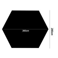 Tarp hex- sześciokątny 3.6 x 2.8 m.