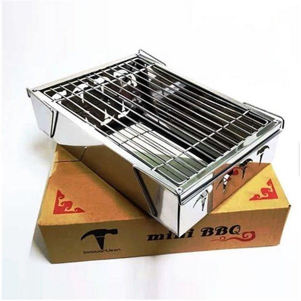 Składany mini grill ze stali nierdzewnej