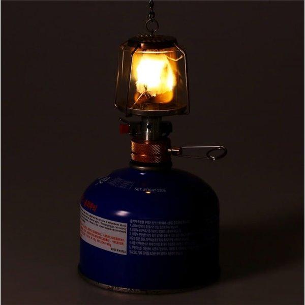 Mini lampa gazowa  szklana turystyczna  wisząca