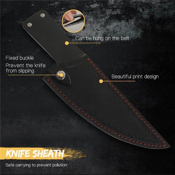 Nóż ręcznie kuty z pochwą