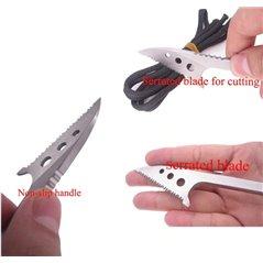 Nóż harpoon ząbkowany EDC