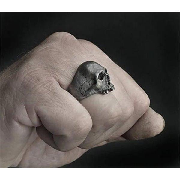 Pierścień Czaszka Gotycka