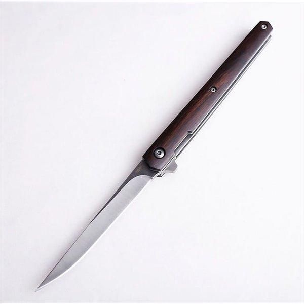 Nóż składany z drewnianą rękojeścią