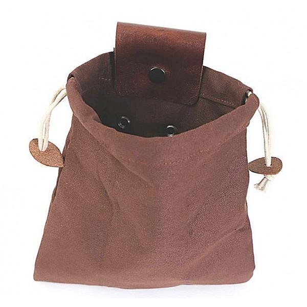 Skórzana i płócienna torba na Bushcraft