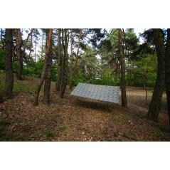 Tarp 3x3 kamuflaż leśny, 19 mocowań