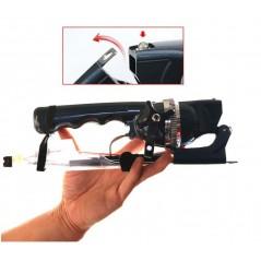 Teleskopowa mini wędka spinningowa z włókna szklanego.