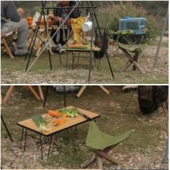 Składany stołek, lekkie piknikowe składane krzesło własnej roboty
